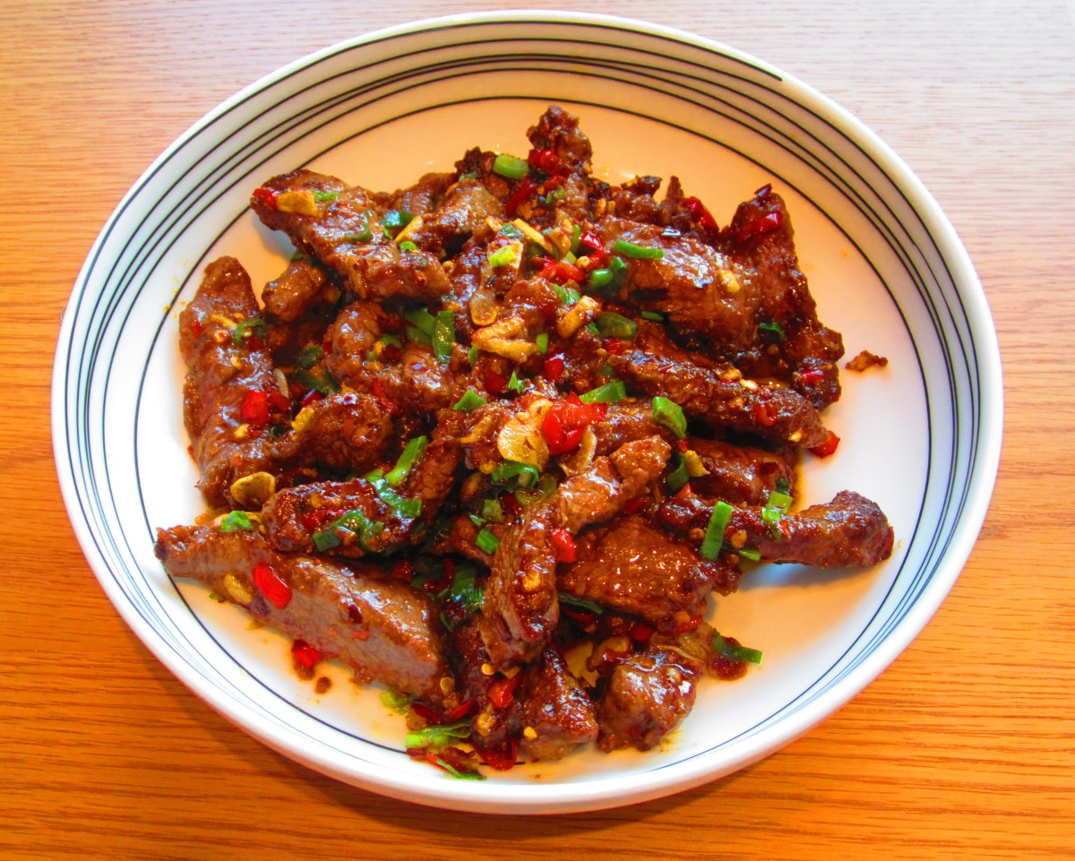 Cumin Beef (孜然牛肉 - zi ran niu rou)