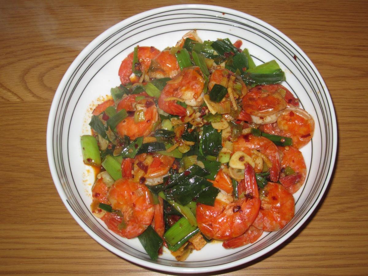 Salt and Pepper Prawns (椒盐虾 - jiāo yán xiā)
